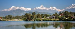 Alt,ping pokhara city Fewa Lake and Annapurna Mountain jpg.""